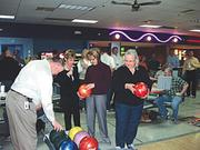 Duke Realty employees participate in a Bowling for Health event held in February.