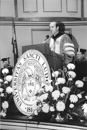 Biondi at his inauguration Sept. 30, 1987, at Powell Symphony Hall.