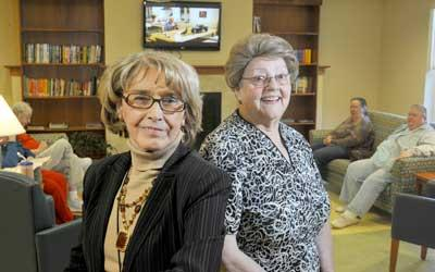 Charlotte Fink (left) is the administrator, and Viola Weible (right) is board president of The Christian Woman's Benevolent Association.