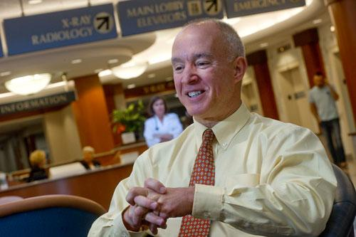 St. Anthony's James Gardner Jr. said the hospital posted a $5.5 million loss in 2012.