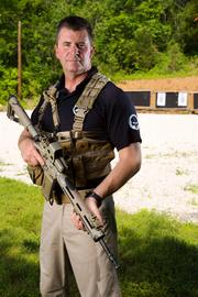 """Keath Hausher trains current and future military officers in physical fitness and military tactics, and now offers safety and self-defense training to """"civilians."""""""
