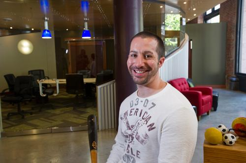 Don't let the photo fool you. LockerDome founder Gabe Lozano says the press coverage and cool office space comes only after years of hustling, being told no and getting run over by a truck on a daily basis.