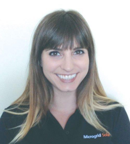 Marisa Lather, marketing director of Microgrid Solar