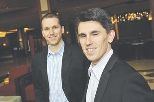 Craig McElroy (left) and Matthew Porter, founders of tech company Contegix, face a lawsuit by Xiolink and its parent company, Infomedia.