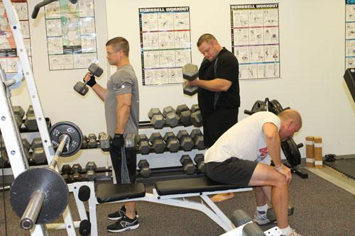 McClure Engineering employees take advantage of the on-site fitness center. The company also provides access to a personal trainer.