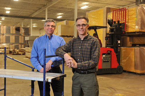Golterman & Sabo, an architectural supplier to businesses, hospitals and schools,plans to add at least three employees to its current roster of 73 after posting record revenue of $17.4 million in 2012, said Herb Golterman (left), who owns the company with his brother Ned Golterman.