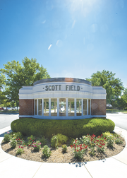 Federal cuts could decrease funding at Scott Air Force Base.