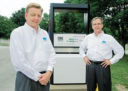 Laclede's Mike Spotanski and Tom Schultz hope to pique natural gas demand in vehicles as well as residential customers.