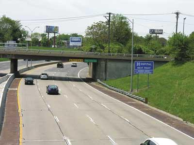 Overpasses can be a problem for pedestrians.