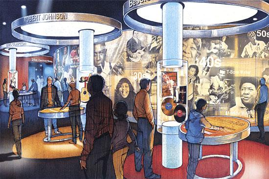 A rendering of theNational Blues Museum.