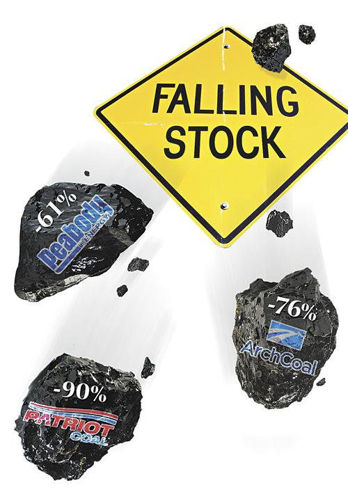 Since May 2011, coal stocks have plummeted on weak demand, natural gas boom.