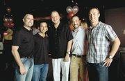 Miso investors (from left) Jim Graham, Brian Beracha, Kurt Diekmann, Brad Beracha and Brad Dussault celebrate 10 years of operation.