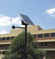 UMSL's sustainable upgrades include solar lighting on its campus.