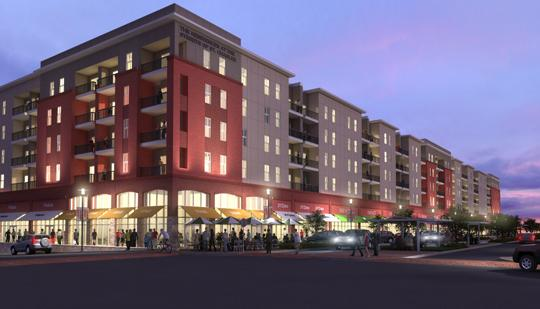The Streets of St. Charles project is a $385 million mixed-use development that includes 1.5 million square feet of retail, dining, entrainment and residential space.