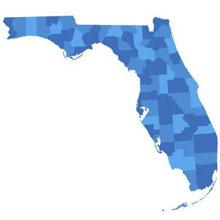 Florida is the fourth-largest state (by population) in the U.S.