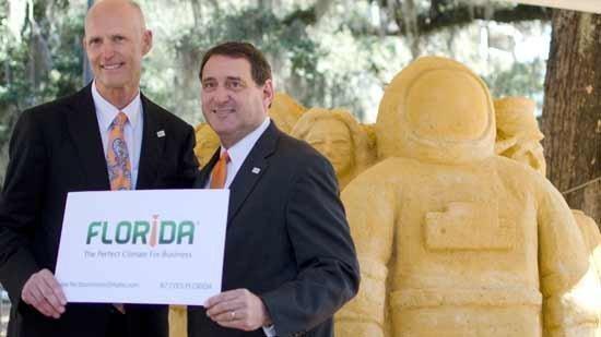 Gov. Rick Scott and Enterprise Florida CEO Gray Swoope