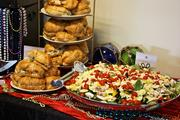 The Junior League of Tampa's current and former Cookbook Chair brunch, 2011. Pictured is Chicken Salad De Luxe Croissant Sandwiches and a garden salad.