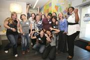"""Walker Brands held a late afternoon """"happiness hour"""" and met Tony Hsieh, center."""