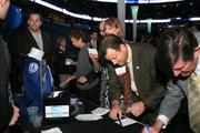 Guests signing up to win a Tampa Bay Lightning jersey.
