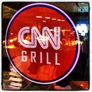 News, sizzling. There was no access to the CNN Grill for outsiders.