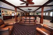 The salon area (lobby) of the barge.