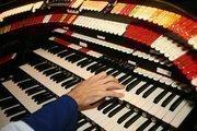 Organist Ray Totaro rehearses.