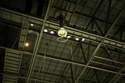 Hanging from the ceiling is a Tesla coil, which creates simulated lightning strikes periodically throughout the game.