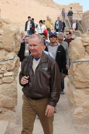 The group walking at Masada.