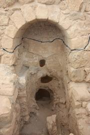 Supply pipes for Roman steam room built into Herod's Palace at Masada