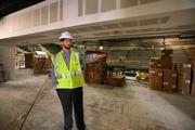 Trent Merritt, general manager of the Sun Dome, at the new clubhouse area.