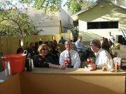 Gallagher & Associates' party deck and tiki hut bar