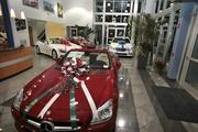 Event attendees could get the feel for cars on the showroom floor at Lokey Motor Co. in Clearwater.