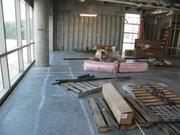 View looking north of a planned conference room and meeting space. The large area will allow for a lot of functionality. Bounded by windows on the west, the view will eventually include a medical arts/office building, also planned.