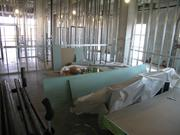 It is now just a framed room on the second floor wing, but when complete, this will be the heart of the new OR suite.