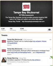The Tampa Bay Business Journal newsroom Twitter feed