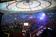 The Tampa Bay Host Committee's party at Tropicana Field on Sunday night was attended by several thousand delegates, media and guests.