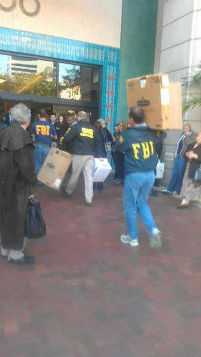 Earlier this year, FBI agents cleared documents from the Universal Health Care Inc. headquarters.