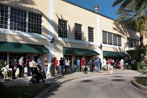 Election Day voters in line in Pinellas County