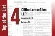 CliftonLarsonAllen is No. 4 on the List.