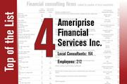 No. 4 on the List is Ameriprise Financial Services Inc.