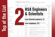 No. 2 on the List is HSA Engineers & Scientists.