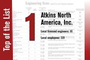 No. 1 on the List is Atkins North America Inc.