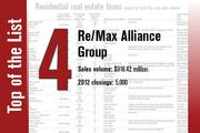 Re/Max Alliance Group is No. 4 on the list.
