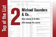 In second place on the list is Michael Saunders & Co.