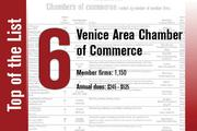 The Venice Chamber of Commerce is No. 6, up from No. 7 last year.