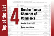 The Greater Tampa Chamber of Commerce is No. 4, up from No. 6 last year.