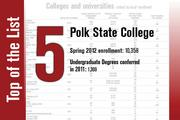 Polk State College is ranked No. 5.