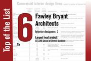 Tied for No. 6 on the List is Fawley Bryant Architects.