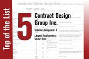 No. 5 on the List is Contract Design Group Inc.