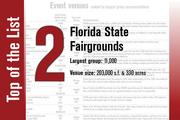 The Florida State Fairgrounds is No. 2 on the List.